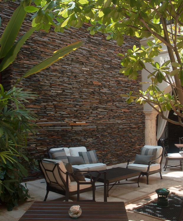 Courtyard El Gobernador à Bastión Luxury Hôtel Bastión Luxury Hotel Carthagène des Indes