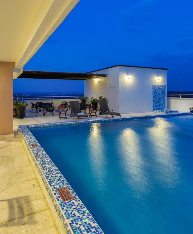 Terrasse piscine Hôtel Sonesta Barranquilla Barranquilla