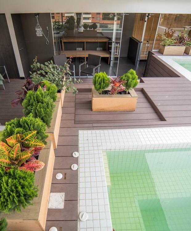 Zones humides Biohotel Organic Suites Bogota