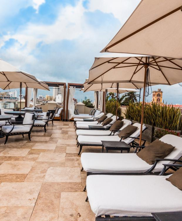 Terrasse à Bastión Luxury Hotel Bastión Luxury Hotel Carthagène des Indes