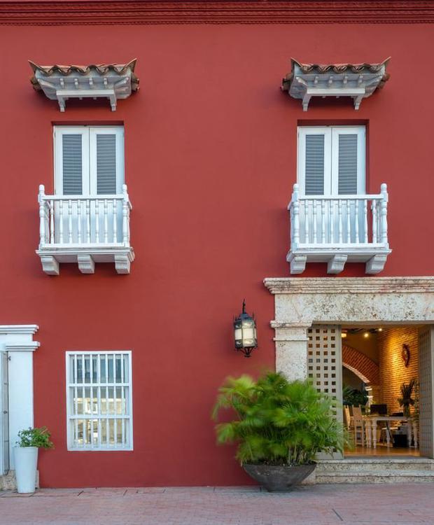 Façade Hôtel GHL Collection Armería Real Hotel Carthagène des Indes